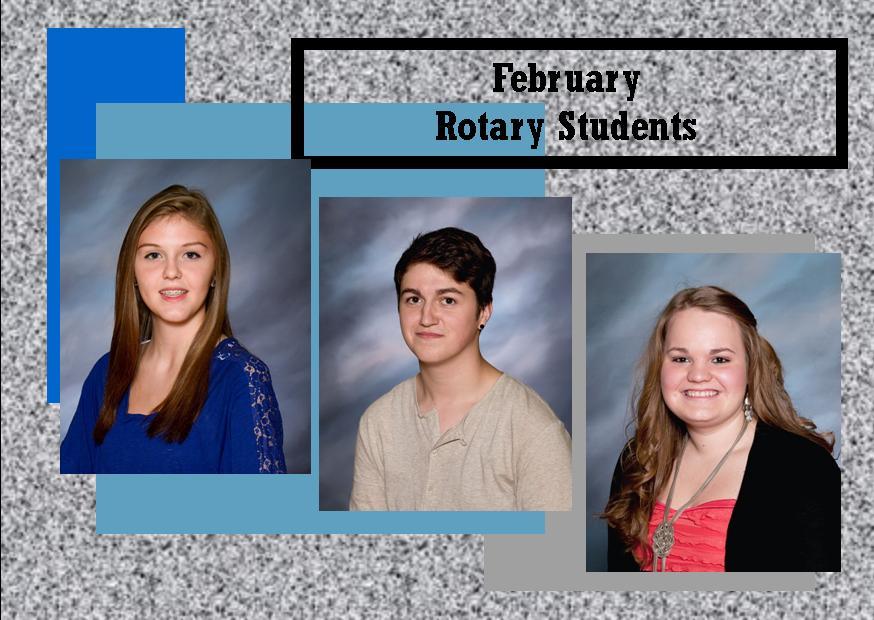 February Rotary Students