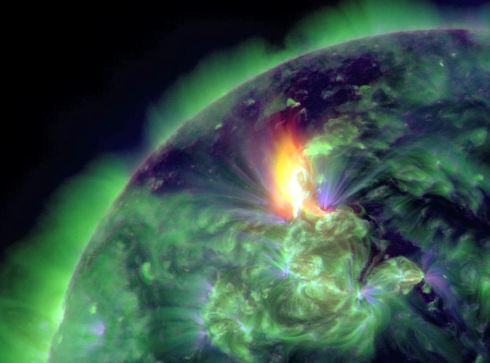 Sun Flares Stun