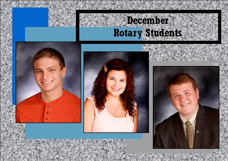 December Rotary Students