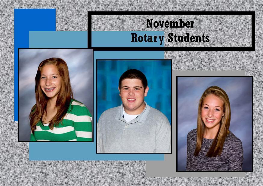November Rotary Students