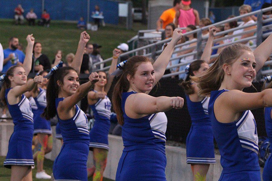 Cheerleaders Display Talent and Determination