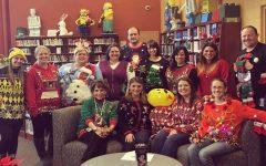 Teachers Ugly Sweater Fun: Winners were Miss Davis, Mrs. Cricks, Mrs. Murray and Mrs. Wack.