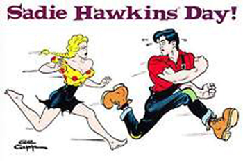 Image result for sadie hawkins day