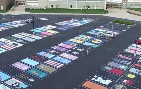 Painted Parking Spaces Highlight Student Creativity
