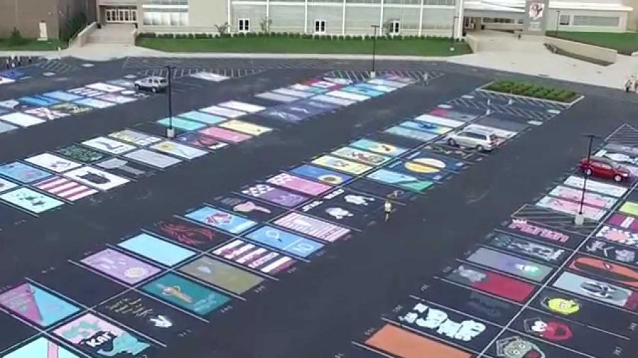 Painted Parking Spaces Highlight Student Creativity The Hub