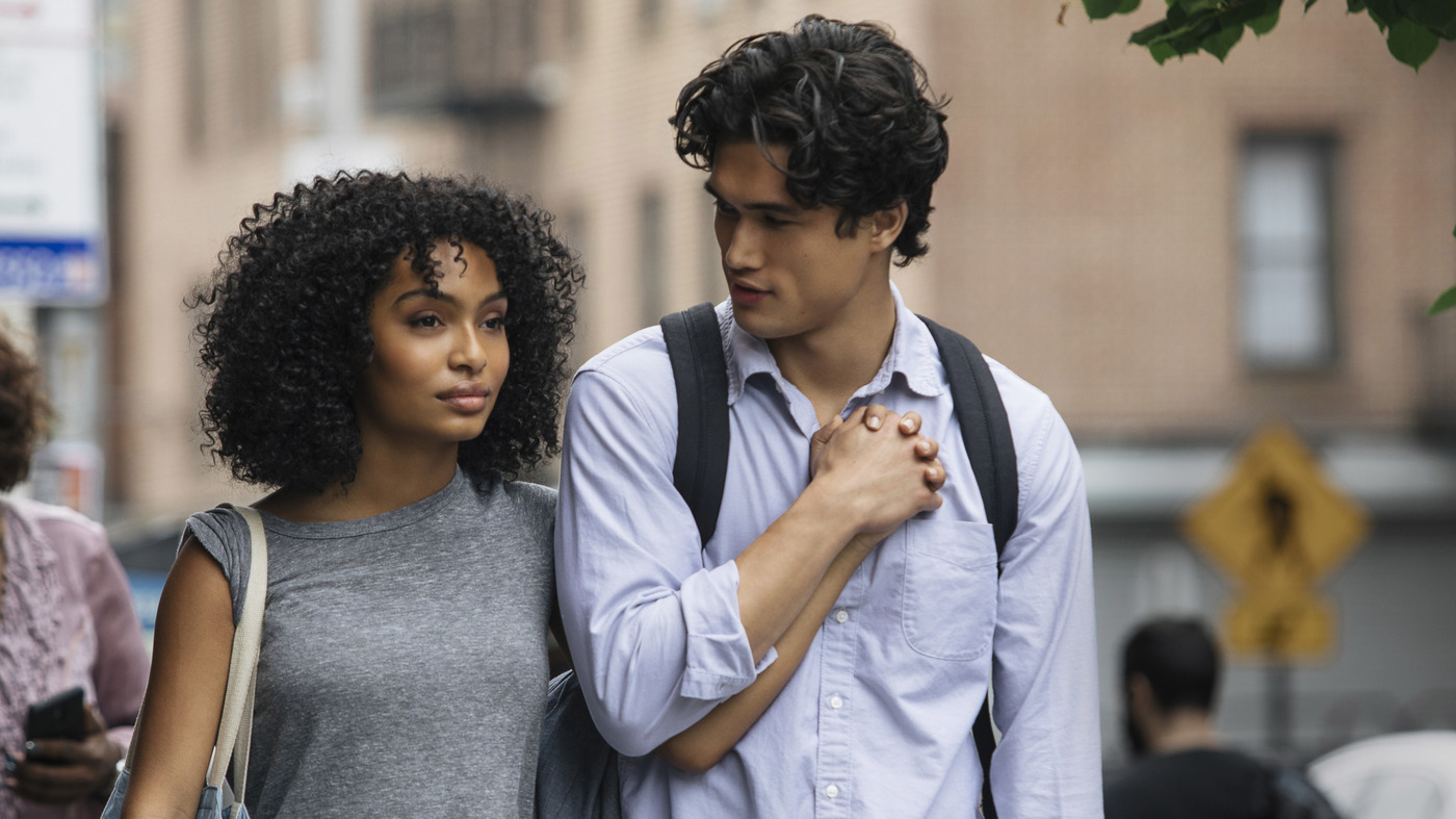 Natasha (Yara Shahidi) and Daniel (Charles Melton) fall in love over the course of a single day in the film adaptation of Nicola Yoon's young adult romance novel The Sun Is Also a Star.</em