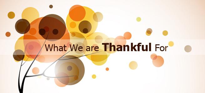 Ten Reasons to be Thankful this Season